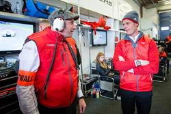 Audi Sport Team WRT manager Vincent Vosse and Edward Sandström