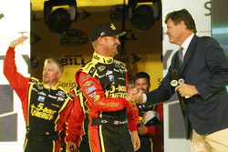 Clint Bowyer, Michael Waltrip Racing Toyota with Michael Waltrip