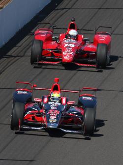 Justin Wilson, Andretti Autosport Honda and Graham Rahal, Rahal Letterman Lanigan Racing