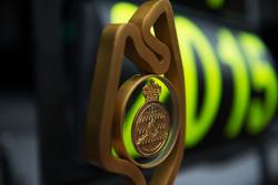 Nico Rosberg, Mercedes AMG F1 - race winner's trophy