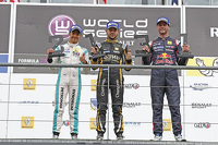 Podium: race winner Matthieu Vaxivière, second place Jazeman Jaafar, third place Dean Stoneman