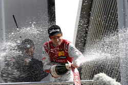 Podium: Winner Jamie Green, Audi Sport Team Rosberg Audi RS 5 DTM