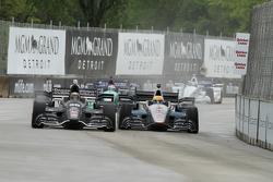 Gabby Chaves, Bryan Herta Autosport Honda and James Jakes, Schmidt Peterson Motorsports