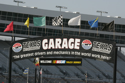 Texas Motor Speedway signage and flags