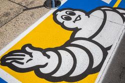 Michelin logo in pit lane