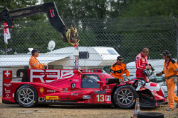 Trouble for the #13 Rebellion Racing Rebellion R-One: Dominik Kraihamer, Daniel Abt, Alexandre Imperatori