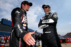 Martin Truex Jr., Furniture Row Racing Chevrolet and Jimmie Johnson, Hendrick Motorsports Chevrolet