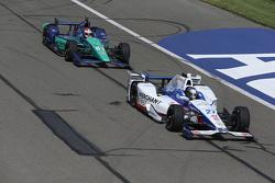 Marco Andretti, Andretti Autosport Honda and Charlie Kimball, Chip Ganassi Racing Chevrolet