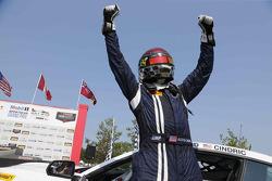 Race winner #158 Multimatic Motorsports Ford Mustang Boss 302R: Jade Buford, Austin Cindric