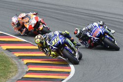 Valentino Rossi and Jorge Lorenzo, Yamaha Factory Racing and Dani Pedrosa, Repsol Honda Team