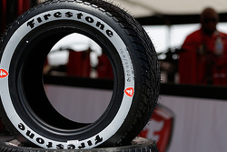 New grey Firestone rain tire