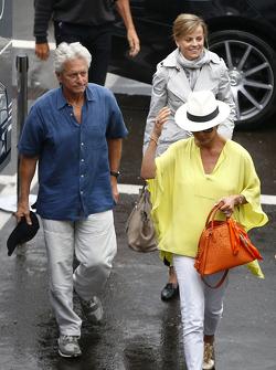 Michael Douglas, Catherine Zeta-Jones and Susie Wolff, Williams Development Driver