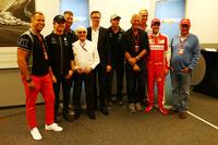 Formel 1 Fotos - Kai Ebel, RTL TV; Nico Rosberg, Mercedes AMG F1; Bernie Ecclestone; Frank Hoffmann, RTL Television Programmdirektor; Nico Hülkenberg, Sahara Force India F1; Sebastian Vettel, Ferrari; Niki Lauda, Mercedes