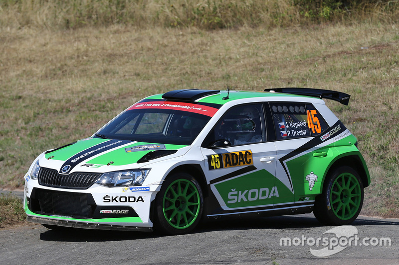jan kopecky and pavel dresler skoda motorsport skoda fabia r5 at rally germany. Black Bedroom Furniture Sets. Home Design Ideas