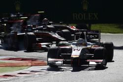 2015 GP2 Series Round 7.   Spa-Francorchamps, Spa, Belgium.  Saturday 5 September 2015.Arthur Pic, Campos Racing leads Sergey Sirotkin, Rapax and Nobuharu Matsushita, ART Grand Prix