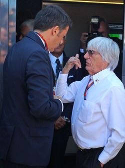 Matteo Renzi, Italian Prime Minister with Bernie Ecclestone