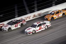 Kurt Busch, Stewart-Haas Racing Chevrolet and Brad Keselowski, Team Penske Ford and Carl Edwards, Joe Gibbs Racing Toyota