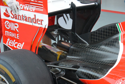 Ferrari rear fin detail