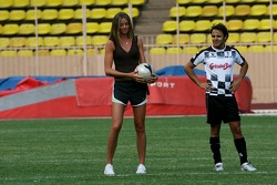 Star Team for Children VS National Team Drivers, Charity Football Match, Louis II StadiumAlbert II: Felipe Massa, Scuderia Ferrari and a girl