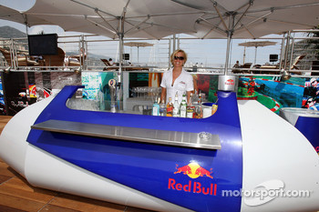 Staff on the deck of the Red Bull Energy Station