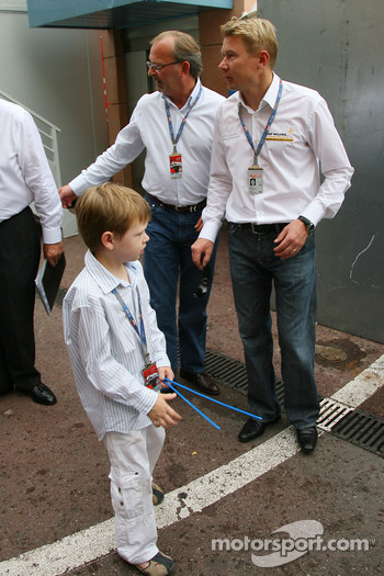 Mika Hakkinen, Former F1 World Champion and Hugo Hakkinen, Son of Mika and Erja