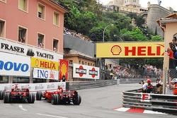 Kimi Raikkonen, Scuderia Ferrari and Felipe Massa, Scuderia Ferrari at