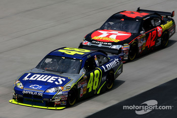 Jimmie Johnson and Juan Pablo Montoya