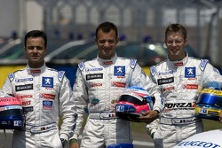 Team Peugeot Total photoshoot: Pedro Lamy, Stéphane Sarrazin, Sébastien Bourdais