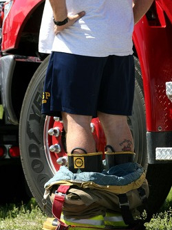 A firefighter caught with his trousers down at the circuit