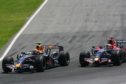 Mark Webber, Red Bull Racing, RB3 and Vitantonio Liuzzi, Scuderia Toro Rosso, STR02