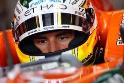 Adrian Sutil, Spyker F1 Team, Pitlane, Box, Garage