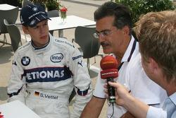 Sebastian Vettel, Test Driver, BMW Sauber F1 Team and Dr. Mario Theissen, BMW Sauber F1 Team, BMW Motorsport Director