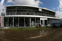 A flooded Audi Sport VIP hospitality