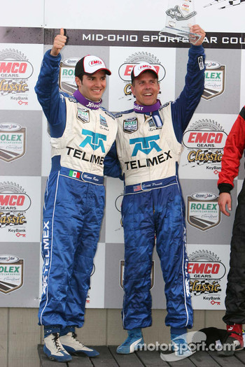 Podium: Scott Pruett and Memo Rojas celebrate second place