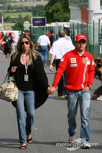 Felipe Massa, Scuderia Ferrari, Rafaela Bassi, Girl Friend, girlfriend of Felipe Massa