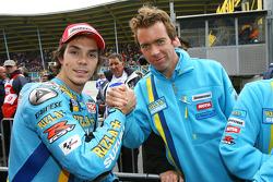 Chris Vermeulen celebrates his pole position