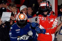 Go-kart event: Marco Melandri and Casey Stoner