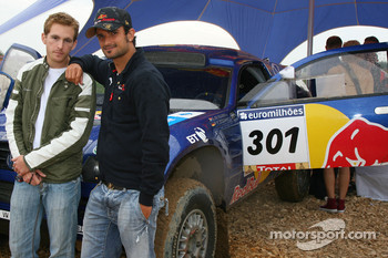 Scott Speed, Scuderia Toro Rosso and Vitantonio Liuzzi, Scuderia Toro Rosso with a Volkswagen Dakar vehicle