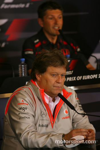 FIA press conference: Norbert Haug, Mercedes, Motorsport chief and Nick Fry, Honda Racing F1 Team, Chief Executive Officer