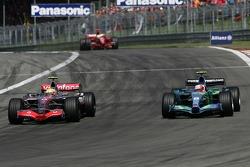 Felipe Massa, Scuderia Ferrari, F2007 and Rubens Barrichello, Honda Racing F1 Team, RA107