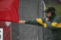 A Marshall waves the Red Flag