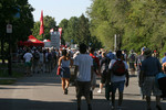 Fans arrive at Circuit Gilles-Villeneuve
