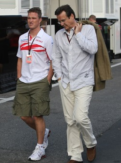 Ralf Schumacher, Toyota Racing and Hans Mahr, Manager of Ralf Schumacher
