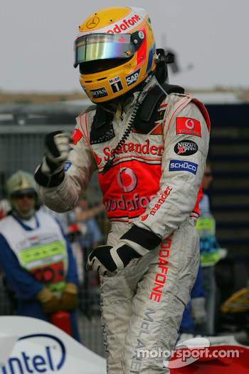 Race winner Lewis Hamilton, McLaren Mercedes, MP4-22