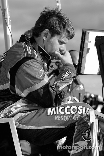 Miccosukee Resorts Chevy crew member watches the race