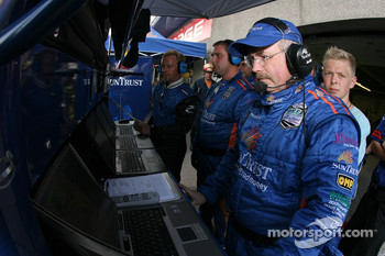 SunTrust Racing team members watch the race