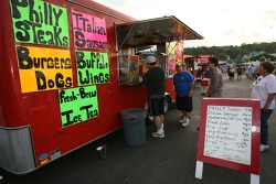 Food stand at the Watkins Glen fan fest