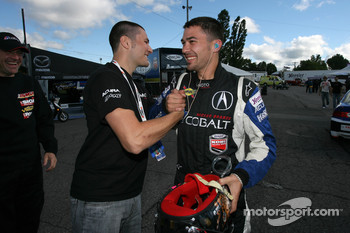 Pole winner Nick Wittmer celebrates with Kuno Wittmer
