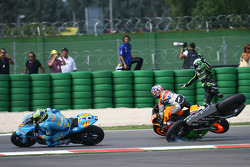 Trouble for Randy de Puniet and Dani Pedrosa
