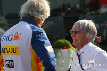 Flavio Briatore, Renault F1 Team, Team Chief, Managing Director and Bernie Ecclestone